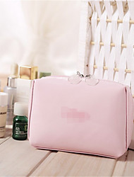 A Leather Hand Bag Transparent Double Zipper Bag