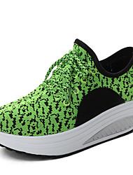Da donna-Sneakers-Casual-Comoda-Zeppa-PU (Poliuretano)-Verde chiaro Nero e rosso Nero e bianco