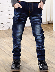 Boy's Cotton Spring/Autumn Fashion Wing Embroidered Jeans Elasticity Denim Long Pants