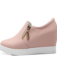 Women's Shoes PU Summer / Fall / Winter Flats Flats Athletic / Dress / Casual Flat Heel Chain Blue / Pink /
