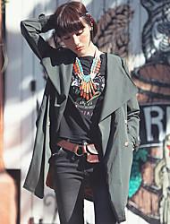 Aporia.As® Femme Col de Chemise Manche Longues Pull & Cardigan Vert-MZ07073