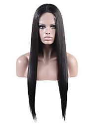 peluca de encaje frontal recto natural peruano color natural virginal del pelo humano 10-28 pulgadas