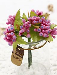 1 1 Ramo Outras Fruta Flor de Mesa Flores artificiais 3.1inch/8cm