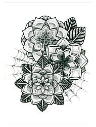 5 Tatuagem Adesiva Séries Flores Non Toxic / Estampado / Lombar / WaterproofFeminino / Masculino / Adulto Flash do tatuagemTatuagens