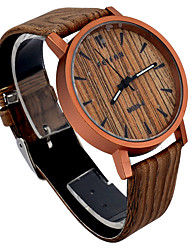 Vintage Mens Watches top Brand Luxury Wood PU Quartz Watch montre femme relogio masculino