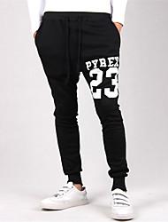 Pantalon de Sport Pour des hommes Lettre Décontracté / Sport Polyester Noir / Gris