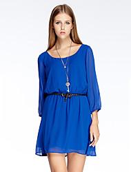 Heart Soul® Women's Round Neck 3/4 Length Sleeve Knee-length Dress-11AA14340