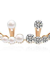 Autres Bijoux Femme Mode Mariage Alliage 1 paire Blanc Clair