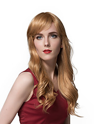 Attractive Long Loose Wavy Human Hair Wigs  For Women