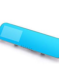 riche visão espelho retrovisor DVR azul espelho hd grande angular 1080p metal ouro nouveau 4,3 polegadas