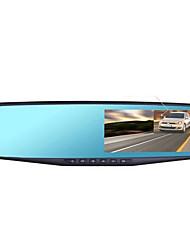 trafic enregistreur de route rétroviseur à double lentille de 4,3 pouces HD 1080p grand angle surveillance de stationnement de vision