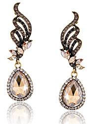 Mujer Pendientes colgantes Moda Joyería de Lujo Europeo joyería de disfraz Diamante Sintético Legierung Gota Joyas Alas / Pluma Joyas Para