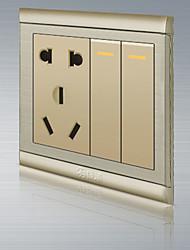 le 5 trou avec interrupteur mural 2 de commande ouverte