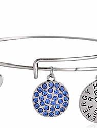 Hope Believe Blue Diamond Bracelet