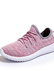 Running Women's Sneakers  Comfort Tulle Outdoor / Athletic / Casual Flat Heel Slip-on Pink / White / Gray Fashion Sneaker