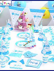 Birthday Decorations-16Item/Set Paper Decoration Birthday Vintage Theme PinkSpring / Summer / Fall /Winter