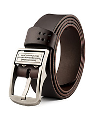 Men Cowhide Waist Belt,Vintage / Party / Work / Casual Leather All Seasons