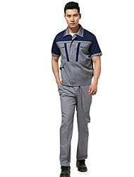 juego de los hombres y mujeres reflexivos ropa de trabajo de manga corta (gris azul del hombro venta, 180)