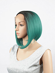 Synthetic Lace Front Wig sexy Black T Green Glueless high density Heat Resistant fiber perruque front lace party wig