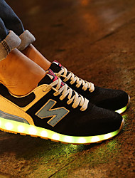 LED Light Up Shoes, Women's Sneakers Spring / Fall Comfort Fabric / Tulle Athletic Flat Heel Blue / Green / Orange Sneaker