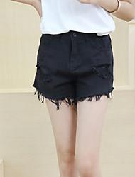 Damen Hose - Einfach Kurze Hose Baumwolle Mikro-elastisch