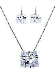 The New European Silver alloy elephants Necklace Earrings Set