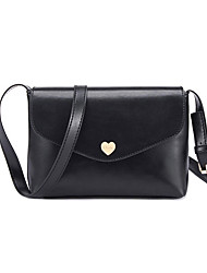 Women PU Casual  Outdoor Shopping Solid Color Heart Accessories Rectangular Magnetic Shoulder Bag