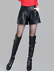 Pantalon Aux femmes Short Sexy / simple Polyuréthane Micro-élastique