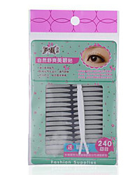 Fenlin ® Touch Dots Double Eyelids Sticker 240 Pieces Three Type With 1 Y fork