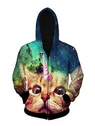 3D  Hoodie Long Sleeve Unicorn Printing Clothing