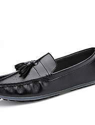 Autumn Men's Driving Leather Slip-on Shoes for Business