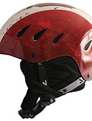 Unisex Casco L: 58-61CM Deportes Utra ligero (UL) Fijo 14 CE EN 1077 Deportes de Nieve / Esquí Rojo PC / EPS
