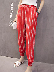 Women's Print Red Harem Pants,Simple