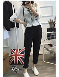 De las mujeres Pantalones Chinos-Simple / Bonito Microelástico-Otro