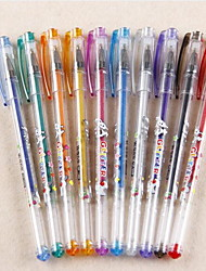 Fashion Mini Glitter Silver Pen Gel Pen Sets A Set Of 10 Pens