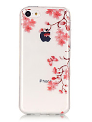 TPU Material + IMD Technology Maple Leaf Pattern Painted Relief Phone Case for iPhone 6s Plus / 6 Plus/SE / 5s / 5/5C