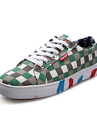 Men's Sneakers Spring / Fall Comfort Canvas Outdoor Flat Heel Lace-up Blue / Green Walking