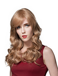 Smooth Elegant Natural Ventilate Long Wavy Wig s Human Hair
