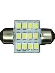 4X White 31mm 12-3528 SMD Festoon Dome Map Interior LED Light Lamp DE3175 3022
