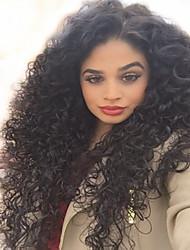 100% non transformés brésiliens vierges de cheveux humains naturels couleur noir bouclés perruques complètes avec des cheveux de bébé