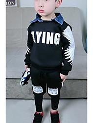 Boy's Casual/Daily Print Clothing Set,Cotton Spring / Fall Black