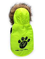 Dog Coat / Coat A variety of colors / Winter  Floral / Footprint Keep Warm
