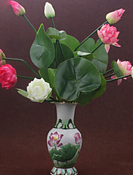 Hi-Q 1Pc Decorative Flower Lotus Flower Wedding Home Table Decoration Artificial Flowers