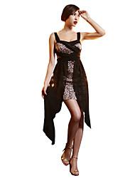 JoanneKitten® Women's Vintage/Sexy/Bodycon/Casual/Print/Party/Work Leopard Print Strapless High Low Above Knee Dress