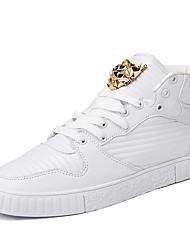 Men's Sneakers Casual/Travel/Outdoor Microfiber Leather Sport Walking Medium cut Board Shoes