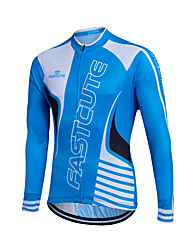 Fastcute® Cycling Jersey Women's / Men's / Kid's / Unisex Long Sleeve BikeBreathable / Quick Dry / Front Zipper / YKK Zipper / Reflective
