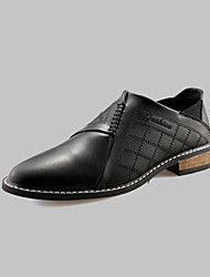Men's Loafers & Slip-Ons Spring / Fall Comfort PU Casual Flat Heel Stitching  Black / Brown / Red Walking
