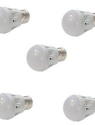 5pcs 5W E27 13x5730smd reguláveis morno branco fresco luz ed lâmpada globo (220V AC)
