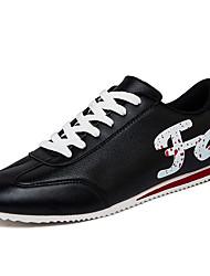 Da uomo-Sneakers-Casual Sportivo-Comoda-Piatto-PU (Poliuretano)-Nero Rosso Bianco