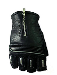 MC25 Semi Finger Leather Gloves Motorcycle Riding Racing Gloves